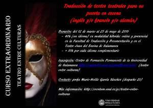 Curso: tradución de teatro y puesta en escena