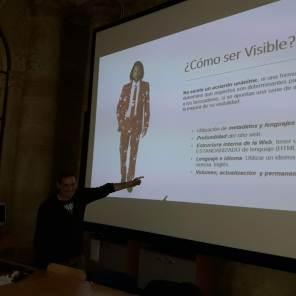 Julio Alonso Arévalo hablando sobre cómo ser visible