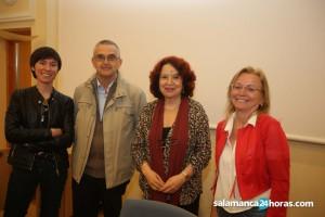 De izquierda a derecha, Claudia Toda, Salvador Peña, Malika Embarek y África Vidal