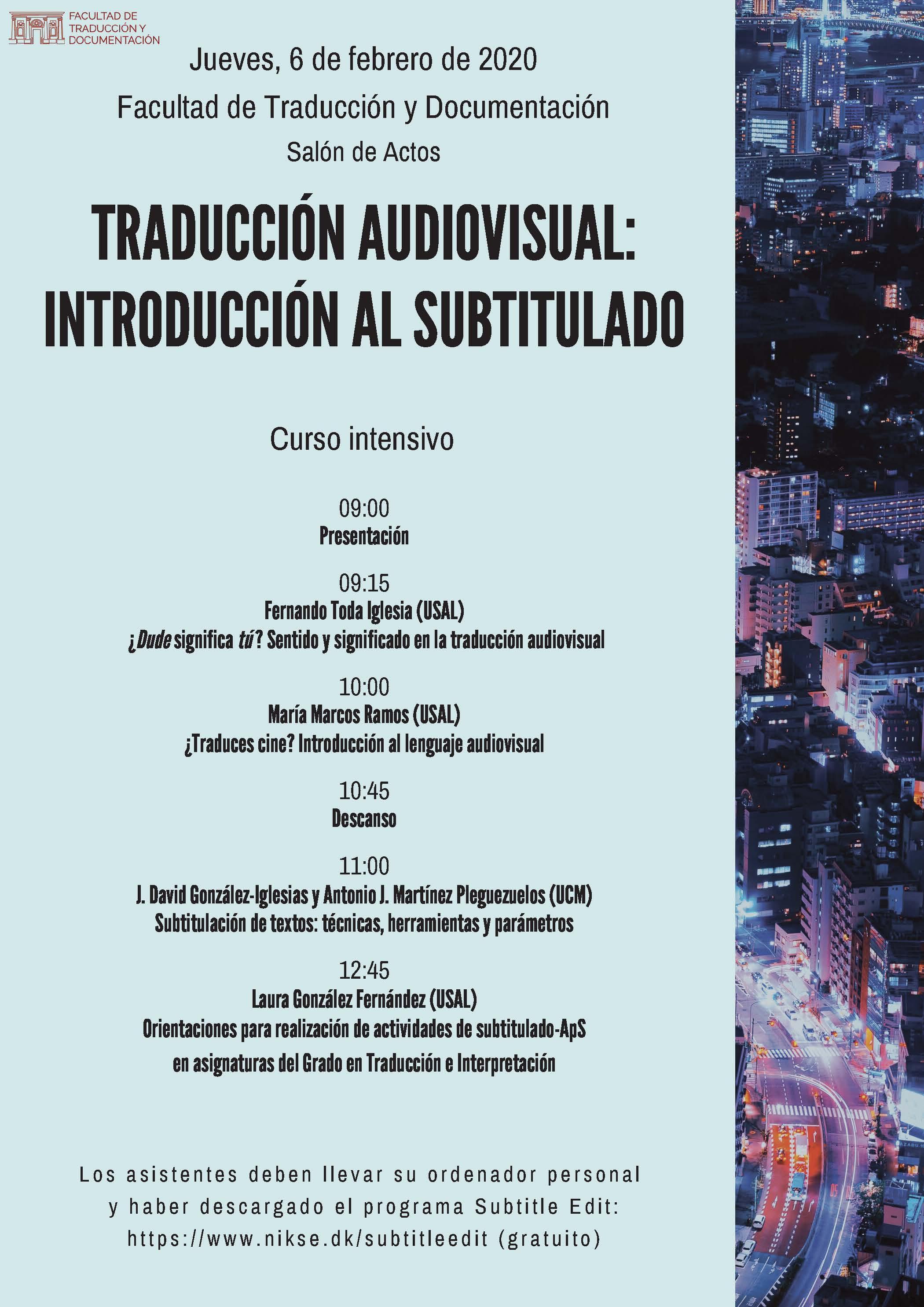 Traducción audiovisual. Introducción al subtitulado-2020-02-06